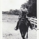 The author riding her first horse Serenade, ca. 1970